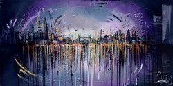 London Skyline III by Samantha Ellis -  sized 48x24 inches. Available from Whitewall Galleries